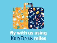 Fly with us using Krisflyer miles